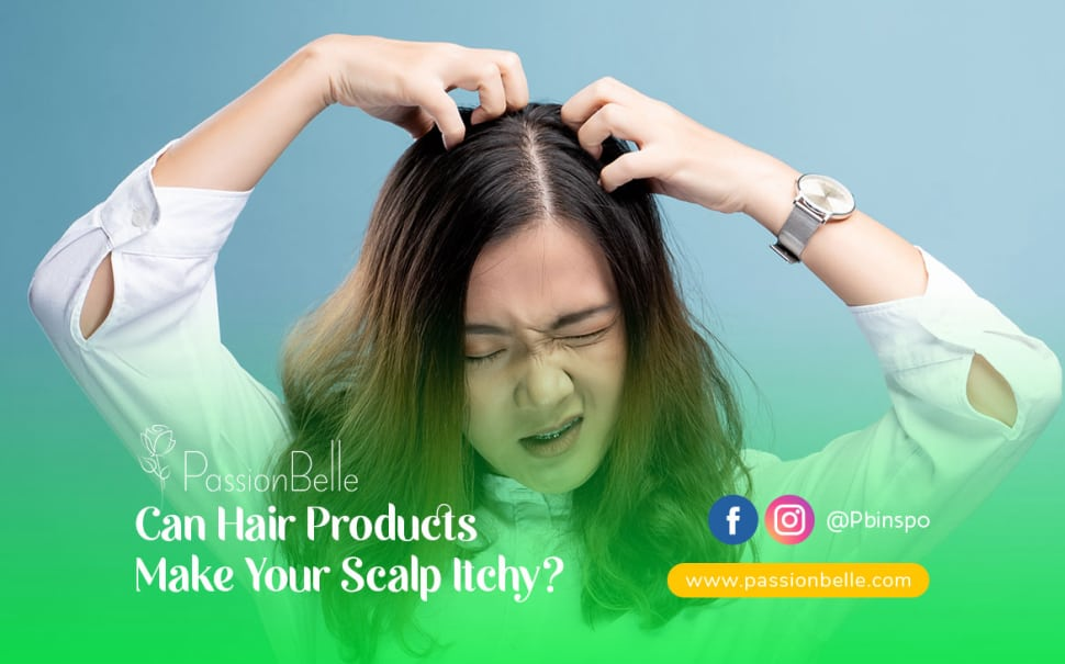 Young girl itching her scalp with both hands looking frustrated.