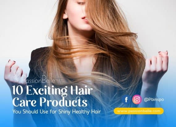 Woman with long shiny healthy hair