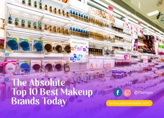 Isle of makeup displaying the top ten best makeup brands