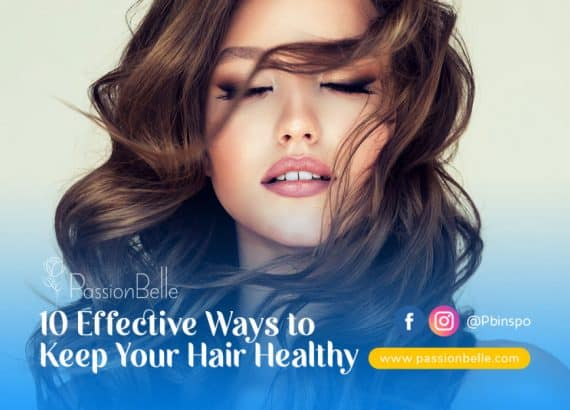 Woman with beautiful long healthy hair, showing you how to keep your hair healthy