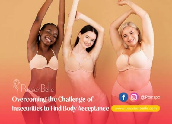 Find body acceptance - three young women standing in underwear smiling at the camera.