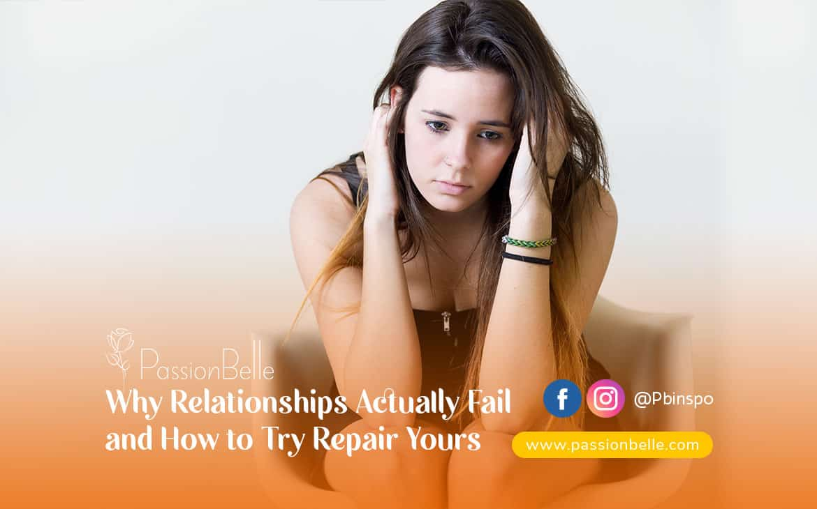 Girl with her hands in her hair thinking about why relationships actually fail.