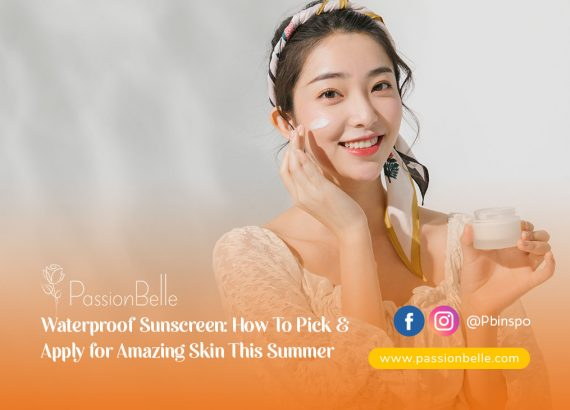 Girl applying waterproof sunscreen to protect her skin this summer