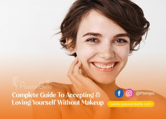 Loving Yourself Without Makeup - girl smiling, going makeup free.