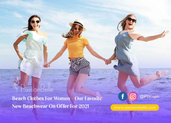 Group of three women showing off their Beach clothes for women outfits.