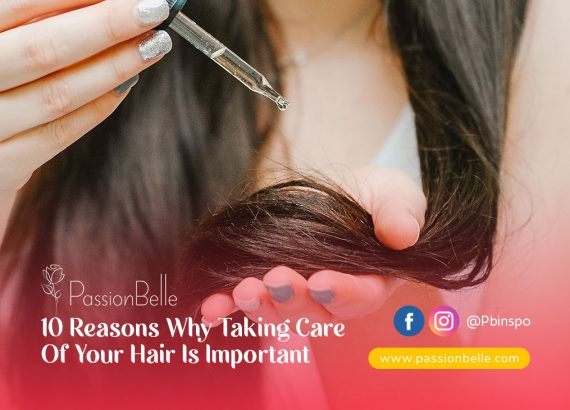 Why taking care of your hair is important - girl applying oil to her hair.