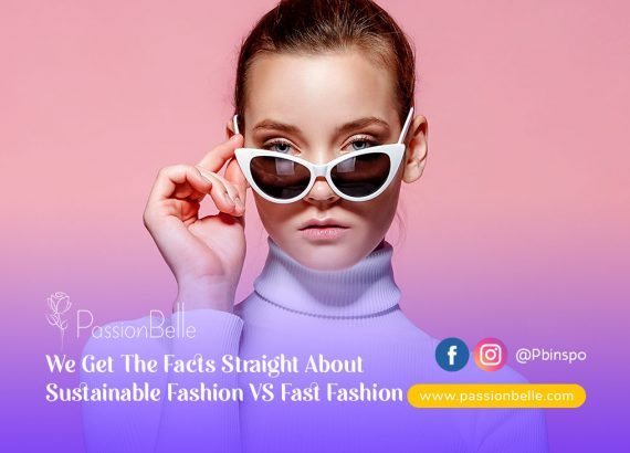 Girl wearing sunglasses thinking about sustainable fashion VS fast fashion.