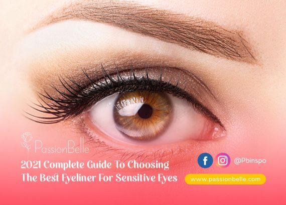 Girl wearing eyeliner after choosing the best eyeliner for sensitive eyes.