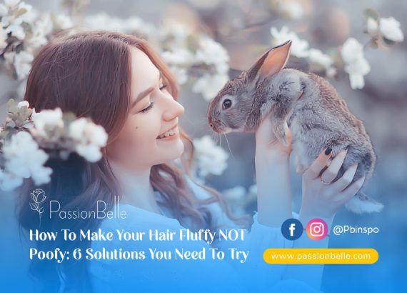 Girl holding a rabbit wondering how to make your hair fluffy not poofy