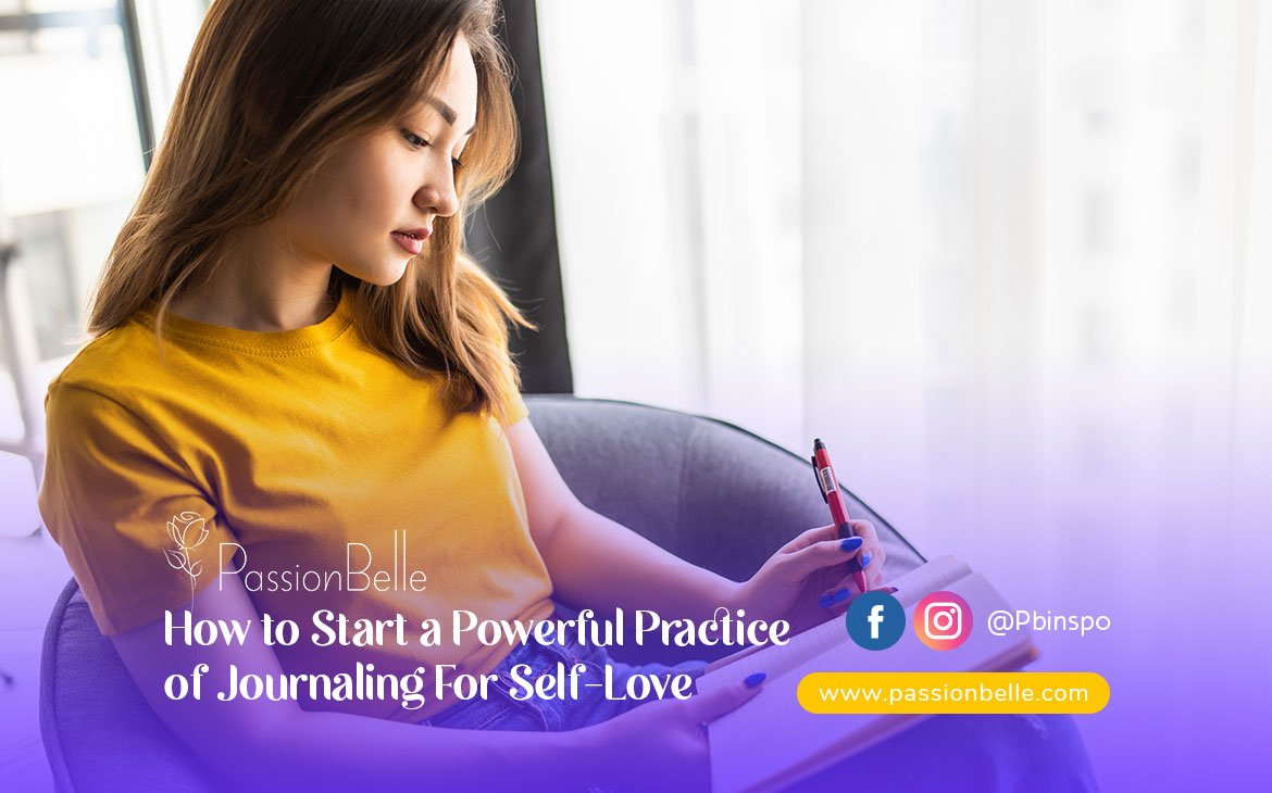A girl deciding how to start a powerful practice of journaling for self love.