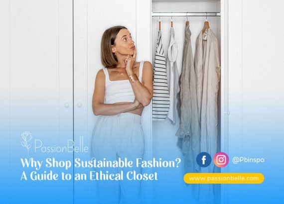 A girl wondering why shop sustainable fashion as she looks at her wardrobe.