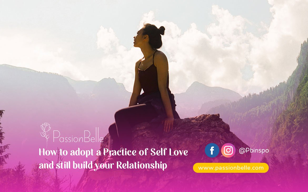 Girl thinking about how to adopt a practice of self love.